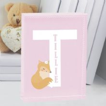 New Baby Girl Letter Personalised Fox Crystal Keepsake - Christening/Naming Day Present
